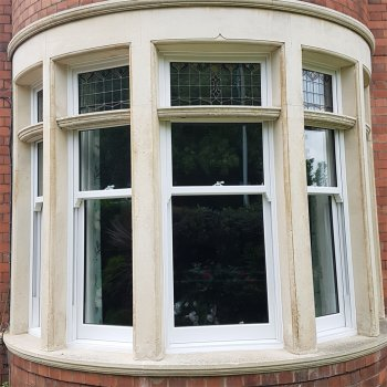 Masterframe sash with new stained glass